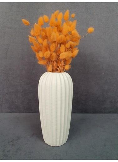 Kuru Çiçek Deposu Kuru Çiçek Pamuk Otu Demeti 35-40 Cm Mavi Oranj